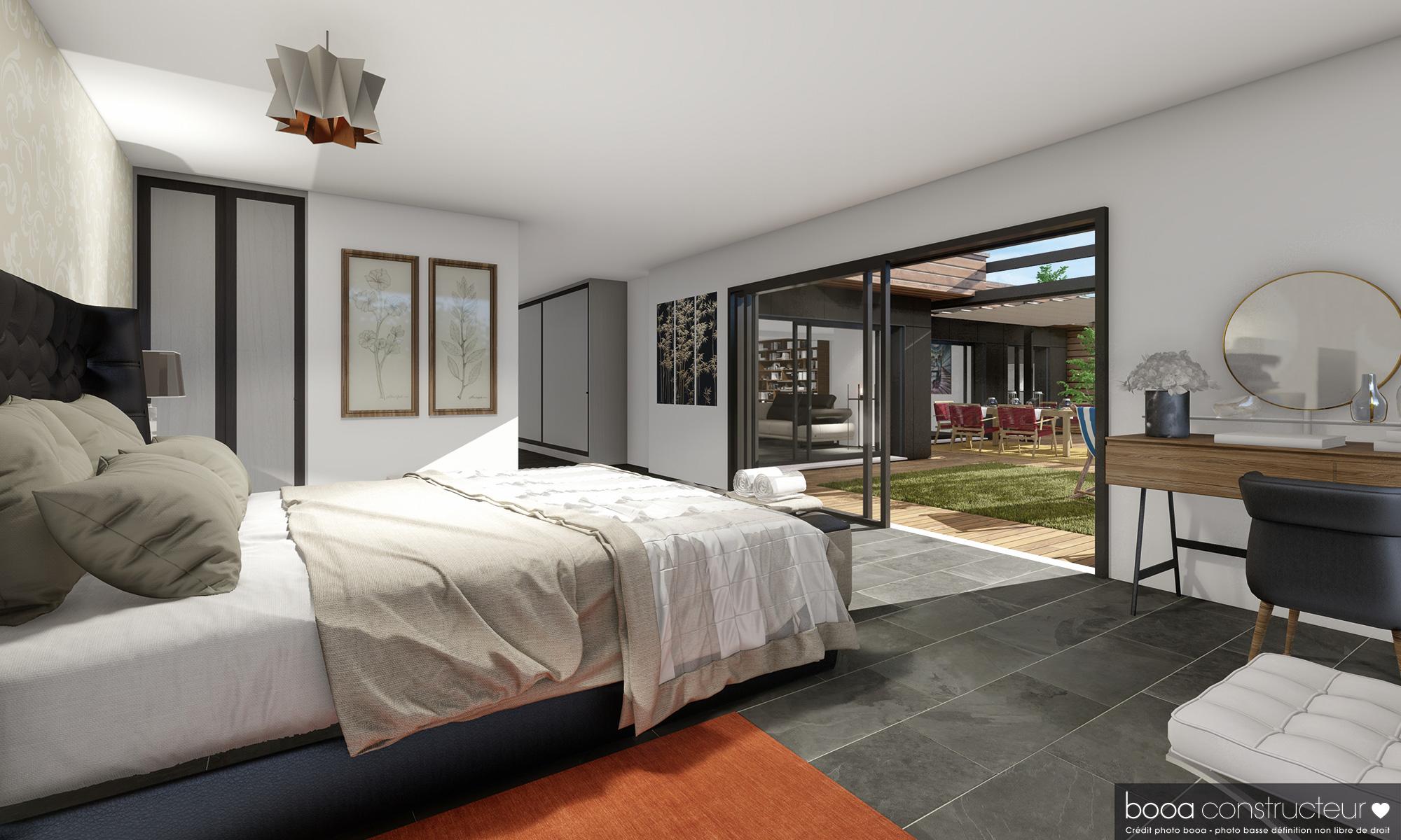 chambre avec ouverture terrasse