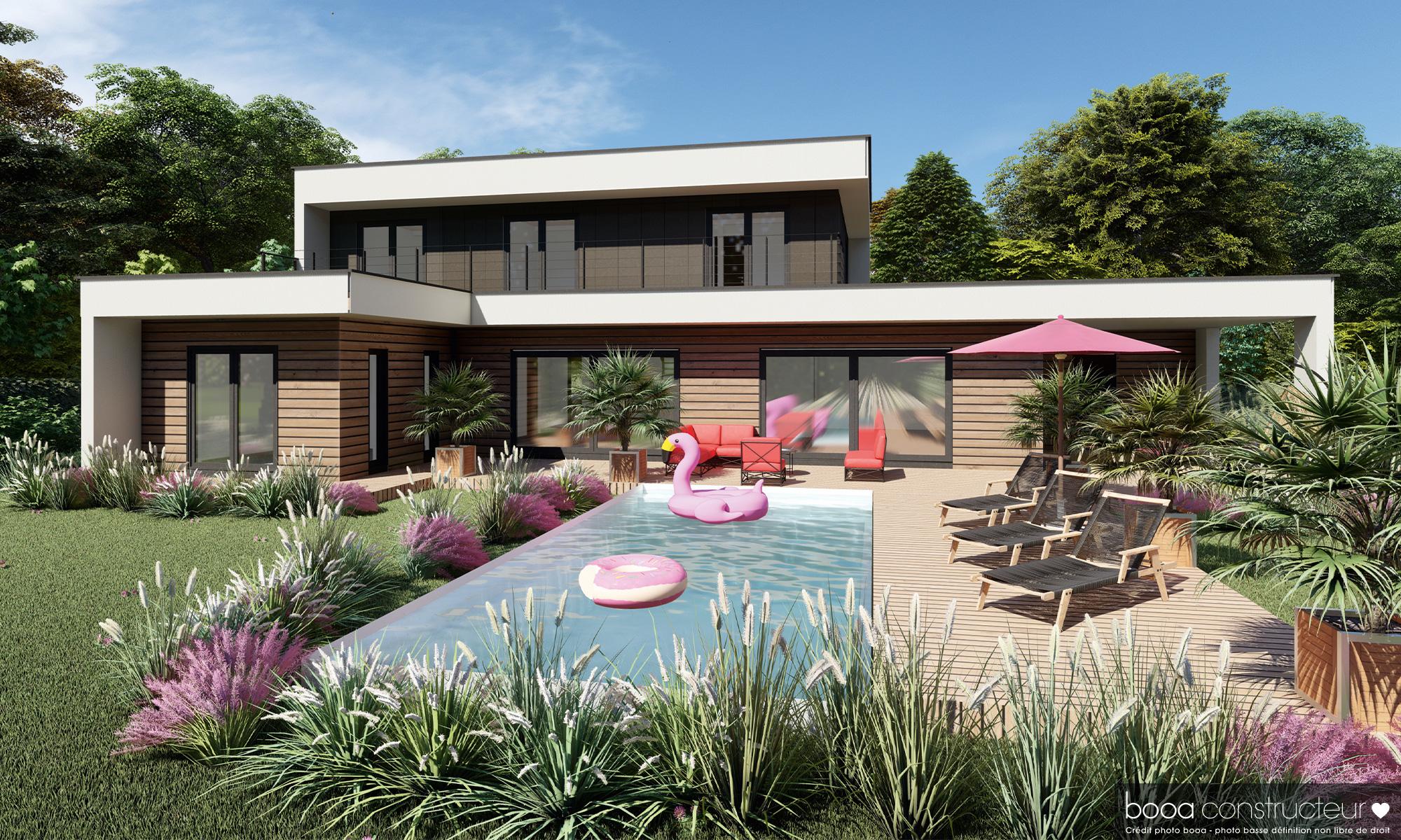 maison moderne en bardage bois